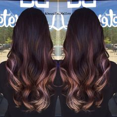 Image result for dusty lilac brunette ombre