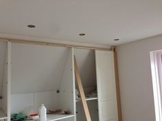 Ikea Pax HACK! Built-in for sloping ceiling - from IKEA Hackers #sloped #attic #our1928Home
