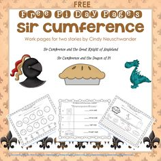 Sir Cumference story work pages freebie