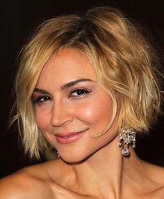 Peinados para mujeres de 40 años: fotos de los peinados - Media melena corta con ondas naturales
