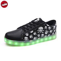 c2 EU 34,[+Kleines Handtuch] weise Leucht Schuhe blinken LED-Licht-emittierende mit Kinderschuhe Lichter und für Klettverschluss weibliche männliche