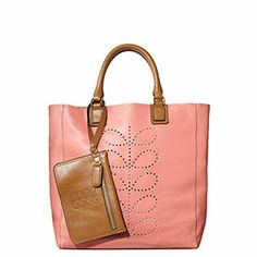 Structured Stem Leather Willow Bag Candy