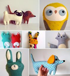 Yeah!: Felt toys for all the good girls and boys. (Designed by Sleepy King)