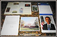 Write a letter to the president and get an informational packet back with these suggestions