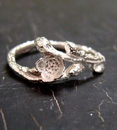 Wild Blueberry Silver Ring