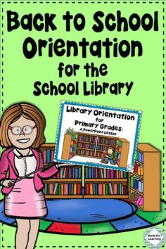 A fun, back to school powerpoint lesson to use for primary orientation in the school library media center. $