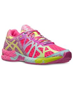 Asics Women's Gel Noosa Tri 9 Ad Shoe Neon Pink Lime Green