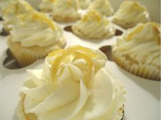 These lemon cupcakes begin with a sweet lemon cake base, lemon infused Swiss meringue buttercream, and a homemade candied lemon peel.