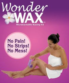 Wonder Wax is the amazing wax treatment that removes unwanted body hair without the pain and irritation of traditional waxing. This salon-quality alternative re