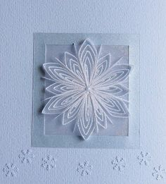 Claire's paper craft: paper quilling - snowflake