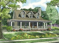 Country Style House Plans - 2039 Square Foot Home , 1 Story, 4 Bedroom and 3 Bath, Garage Stalls by Monster House Plans - Plan 12-255