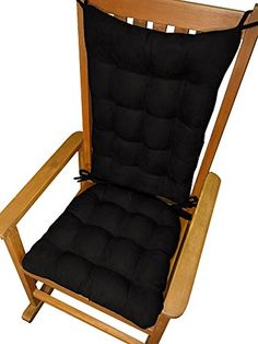 Rocking Chair Cushions  Microsuede Black Micro Fiber Ultra Suede  Standard  Reversible Latex Foam Fill  Made in USA <3 This is an Amazon Associate's Pin. Click the image to view the details on Amazon website.