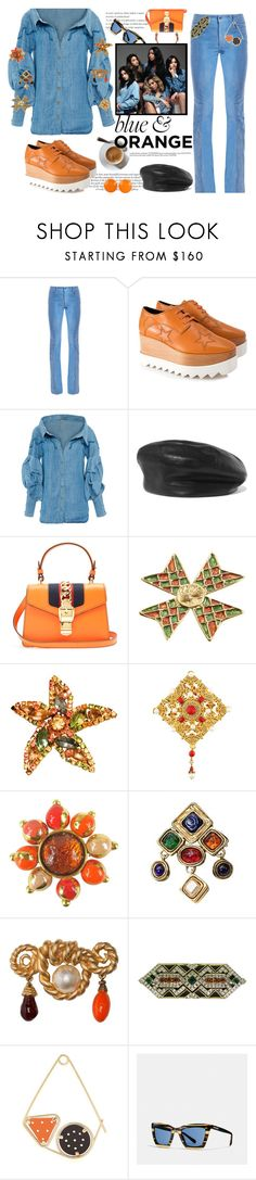 """""""When do girls put the world on track? When they go out to coffee"""" by nicolleeliza ❤ liked on Polyvore featuring Gucci, STELLA McCARTNEY, Johanna Ortiz, Eugenia Kim, Yves Saint Laurent, Kenneth Jay Lane, Chanel, DOMINIQUE AURIENTIS, Loewe and Coach"""