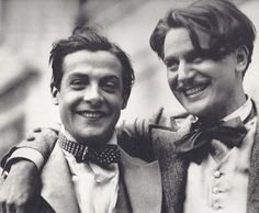Willy Fritsch and Anton Walbrook on the set of Walzerkrieg, 1933.