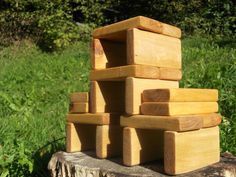 20 Handmade wooden  building blocks,  eco friendly toys, children wooden toys.
