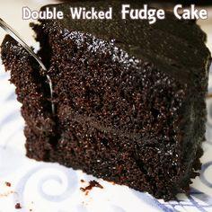 Double Wicked Fudge Cake Recipe from Divine Desserts. click .....