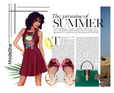 """""""Summer"""" by autumn-soul ❤ liked on Polyvore featuring Miu Miu, Gucci, Piaget, Oliver Peoples and modeshe"""