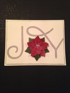 The greatest JOY in creating this card was using the new Cricut FLOWER MARKET cartridge from CTMH! To round out that fabulous cartridge I also used Ruby, Whisper, NE Ivy card stock & inks along with Colonial White cardstock & clear sparkles.