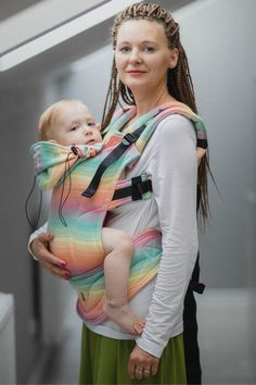 Ergonomic Carrier, Toddler Size, herringbone weave 100% cotton - wrap conversion from LITTLE HERRINGBONE IMAGINATION - Second Generation