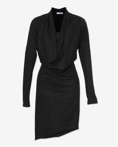 Helmut Lang Wool Drape Dress