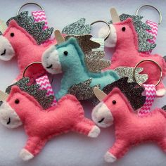 Lots of unicorn keyrings finished today and ready to be posted to their new homes