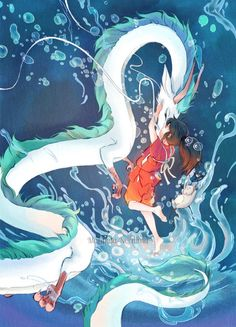 dragon, spirited away, and anime Bild