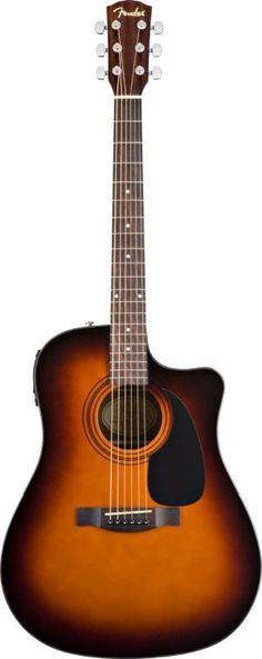 Fender CD-60CE Dreadnought Cutaway Acoustic-Electric Guitar - Sunburst