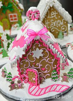 Pink Gingerbread House by Beverly's Best Bakery