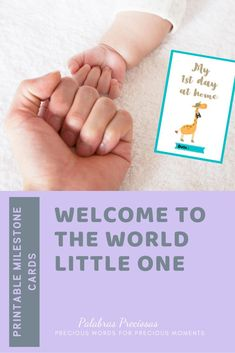 This set of 24 cards are a delightful way to capture every milestone  of your baby's first 12 months ~ first their first day at home to their first birthday and magic moment in between #babyphotoprop #welcometotheworld #newbaby #babymilestone #magicmoments