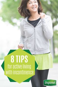Maintaining an active lifestyle is essential for managing incontinence, but having the motivation to get out there can seem daunting when you're constantly worried about an overactive bladder. Follow these tips for active living with urinary incontinence and then be sure to help avoid leaks with Depend® Silhouette® Active Fit Briefs during every activity and outing with loved ones.