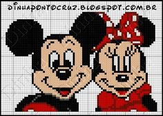 Mickey and Minnie - Mickey Mouse pattern by Dinha Ponto Cruz