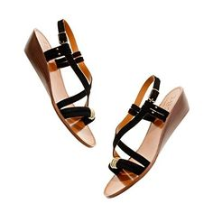 Black Studio Sandal with small wedge