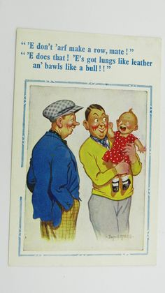 Donald McGill Risque Funny Saucy Vintage Postcard New Baby Boy Teething   eBay