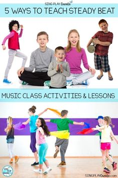 "Get creative with your younger music class students using these ""5 Ways to Teach Steady Beat"" Diverse teaching strategies create more opportunities for skill mastery. Sandra at Sing Play Create"