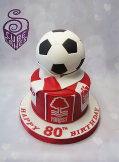 Nottingham Forest cake by CubeCakes Mum Birthday, Birthday Cakes, Birthday Ideas, Football Cakes For Boys, Nottingham Forest, Forest Cake, West Bromwich, Beautiful Cakes, Cake Cookies