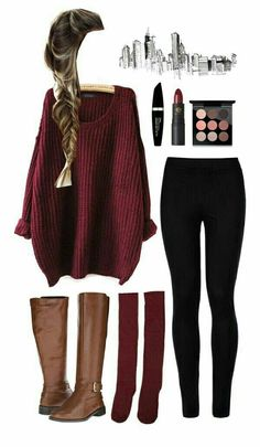 Es hija… Fanfic Casual fashion for School outfits for teens 2019 Teenager Outfits That Will Make You Look Great Cute Outfits For School, Cute Comfy Outfits, Cute Winter Outfits, Stylish Outfits, Fall College Outfits, Casual Christmas Outfits, Brown Boots Outfit Winter, Casual Outfits For Teens, Fashion Mode