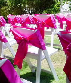 Ribbons on Resin folding chairs