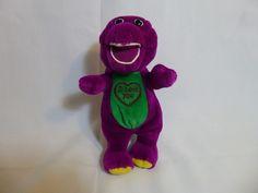 "Lyons Vintage BARNEY Talking Singing 10"" Plush Toy Dinosaur ""I Love You"" Song #LyonsPartnership"