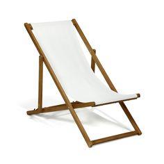 Chaise longue de jardin / Chilienne écru Ecru - Udine - Les bains de soleil et transats - Meubles de jardin - Tous les meubles - Décoration d'intérieur - Alinéa #AlineaPE2014
