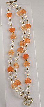 Jewelry Making Idea: Tangerine Bracelet (eebeads.com) #JewelryDIY