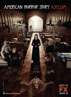 #AmericanHorrorStory - Asylum » Poster promocional (estreou a 18/10/12 na FX)