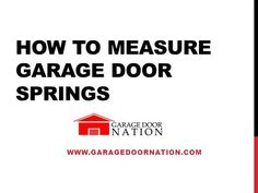 garage door nationGarage Door Torsion Springs Replacement  Garage doors Garage