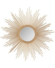 Give your living space a stunning and elegant update with the Madison Park Fiore Sunburst Mirror. Its stylized iron frame is finished with gold foil for a glamorous touch. The sphere design and offers additional charm and dimension. Gold Sunburst Mirror, Sun Mirror, Gold Bed, Home Decor Mirrors, Small Mirrors, Decorative Mirrors, Mirrors Online, My New Room, Bedroom Ideas