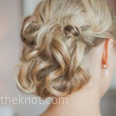 Curled Wedding Updo