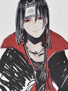 ❤_❤ #Itachi Anime Naruto, Sad Anime, Naruto Shippuden Anime, Naruto Art, Naruto And Sasuke, Manga Anime, Itachi Uchiha, Kuroko, Pierrot