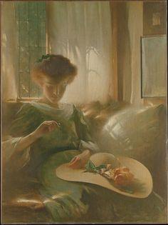 John White Alexander (1856–1915) - The Ring, 1911, Oil on canvas, 123.8 x 92.4 cm.