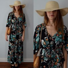 A personal favorite from my Etsy shop https://www.etsy.com/ca/listing/264509816/vintage-1970s-nancy-g-black-floral-dress