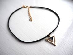 Triangle Shape, Uk Shop, Handmade Silver, Cord, Arrow Necklace, Chokers, Velvet, Shapes, Trending Outfits