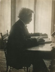 "February 18, 1885: Mark Twain's ""Adventures of Huckleberry Finn"" is published in the United States. Mark Twain,1906, photograph by Jessie Tarbox Beals, PR 004. New-York Historical Society, 79215d."