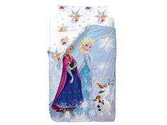 El saco nórdico infantil Frozen Friends nos muestra a las dos amigas en su ambiente invernal.  Ideal para que los peques duerman sin destaparse.  De Gamanatura.  http://www.aqdecoracion.es/saco-nordico-infantil-frozen-friends_2607.html